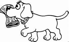 hund mit zeitung ausmalbild malvorlage comics