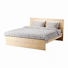 malm bed frame high king white stained oak veneer