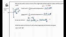 vector polar form polar form of vectors youtube