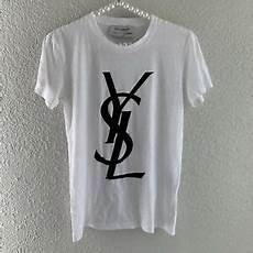 ysl yves laurent black white velvet logo