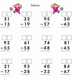 2nd grade math worksheet subtraction with borrowing printable math and measurements worksheets