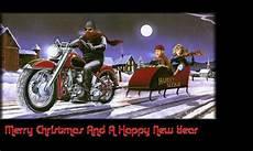 weihnachtsmann auf motorrad gif melformer merry harley style