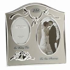 25th silver wedding anniversary silver plated photo