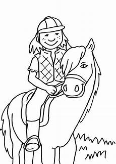 Schule Und Familie Ausmalbilder Pferde Kostenlose Malvorlage Pferde Kleine Reiterin Zum Ausmalen