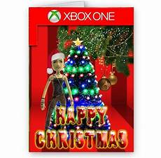 xbox one avatar or photo happy christmas a5 card