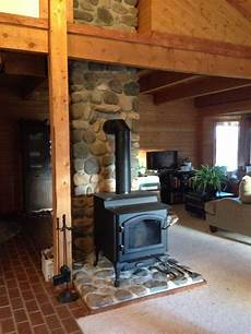 quadra fire 4300 step top burning stove woodstove cabin wy living room have in 2018