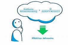 Effektiver Jahreszins Berechnen - effektiver jahreszins definition anwendung berechnung