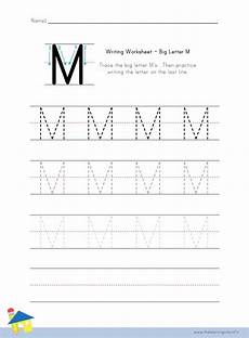 letter m handwriting worksheets 24300 big letter m writing worksheet the learning site