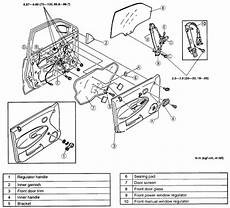 electronic stability control 1996 mazda protege spare parts catalogs 1996 mazda protege driver door latch repair diagram everydayautoparts com gmc chevrolet