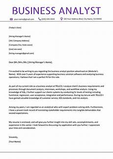 business analyst cover letter exle writing tips resume genius