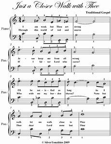 just a closer walk with thee easy piano sheet music read book online