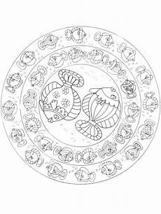 Ausmalbilder Fische Mandala Fisch Ausmalbilder Muster Malvorlagen Mandala