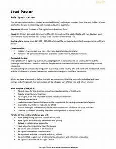 lead pastor salary 10 church job description templates in doc pdf free premium templates