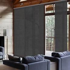 panneaux japonais coulissants panneau japonais chevrons gris h 250 x l 50 cm leroy