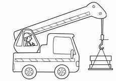 ausmalbilder bagger und lkw transportmittel kranfahrer zum ausmalen ausmalen