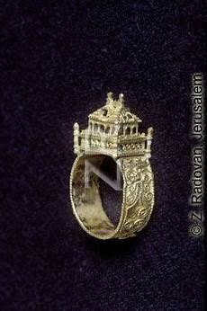 ancient traditional jewish wedding ring from central