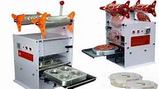 manual food tray sealing machine semi automatic box sealer equipment semi auto film sealer youtube