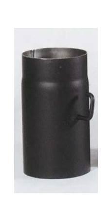 ofenrohr mit drosselklappe senotherm schwarz 216 130 mm