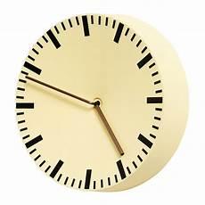 hay analog wall clock light yellow finnish design shop