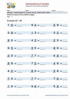 by mathematics school grade 1 maths worksheets free printable pdf sheets 1st grade