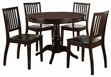 steve silver candice 5 piece 42 inch round dining room set in dark espresso contemporary