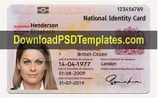 uk id card template united kingdom national identity card template uk id card