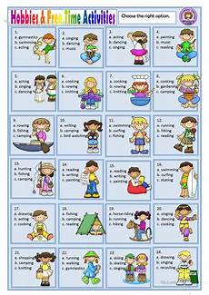 leisure time esl worksheets 3799 hobbies and free time activities worksheet free esl printable worksheets made by teachers