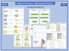 differentiated addition worksheets year 1 9866 year 1 differentiated addition and subtraction worksheets block 2 week 1 white style by