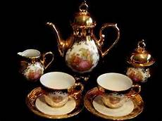 wunsiedel bavaria porzellan 9 pc porcelain gold plated tea