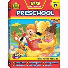 kids work books big preschool workbook gets kids ready for success school zone