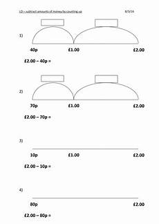 money change worksheets ks2 2836 subtracting money by counting up finding change ks2 teaching resources