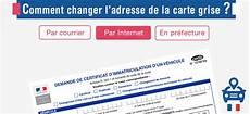Changement D Adresse De La Carte Grise Legipermis