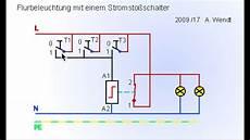 flurbeleuchtung mit stromsto 223 schalter vereinfacht