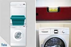 waschmaschine in küche was beachten trockner auf waschmaschine stellen was zu beachten ist