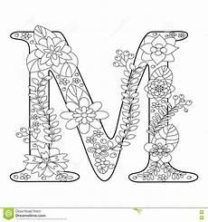 Ausmalbilder Buchstaben M Malbuch Des Buchstaben M F 252 R Erwachsenvektor Vektor
