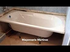 pose de baignoire montage pose d une baignoire ma 231 onnerie martinez