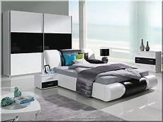Komplett Schlafzimmer Kansas Hochglanz Wei 223 Schwarz Mit
