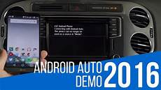 Android Auto Demonstration In Volkswagen