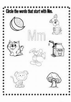 letter mm worksheets 23218 mm words 2 pages esl worksheet by lizsantiago
