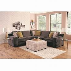 woodhaven industries sectionals 4 piece sonja living room collection