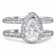 custom double band pave halo diamond ring brilliant earth
