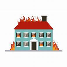 Malvorlage Brennendes Haus Hintergrund Mit Einer Brennenden Flamme Vektor Abbildung