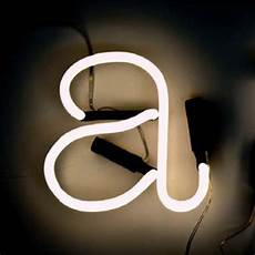 neon art wall light letter a white black cable by seletti