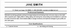 free online resume sles from myperfectresume com