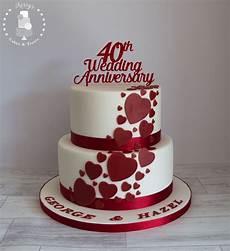 Ruby Wedding Anniversary Cake Ideas 40th ruby wedding anniversary cake white with ruby