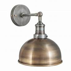 vintage industrial style brass 8 inch dome l sconce