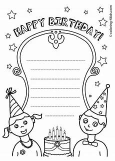 Gratis Malvorlagen Happy Birthday 50 Gorgeous Coloring Birthday Cards Kittybabylove