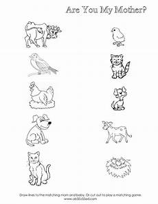 animals worksheets for nursery 13977 are you my worksheet scribd and baby animals are you my preschool