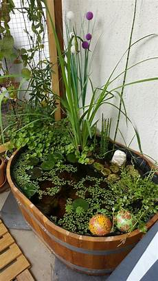 Make Your Own Balcony Ideas A Mini Pond In The Pot