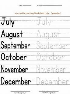 worksheets months 18961 months of the year worksheet july december by handwritables tpt
